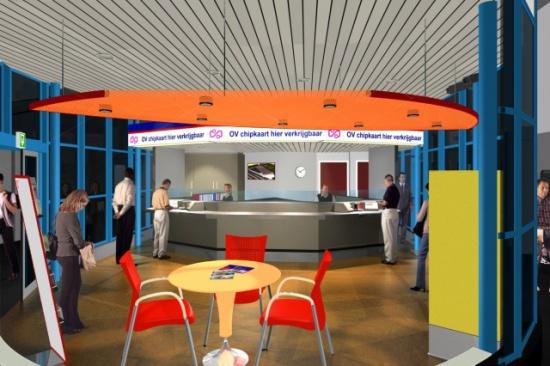 Interieur nieuw infocentrum RET