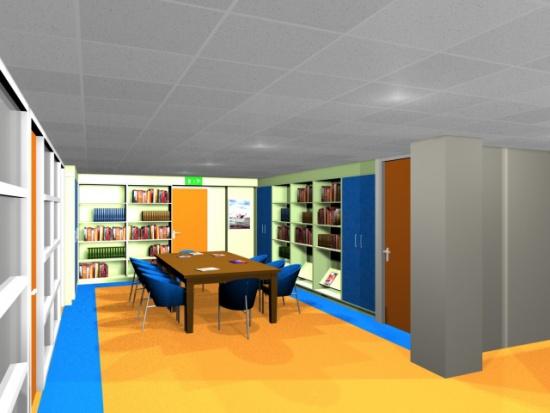 Impressie nieuwe info centrum Mee