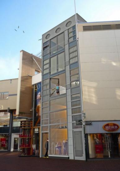 Nieuwbouw winkel + appartementen te Hilversum