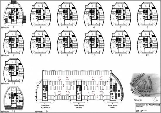 Verkooptekeningen villa's + appartementen Land In Zicht Haarlem
